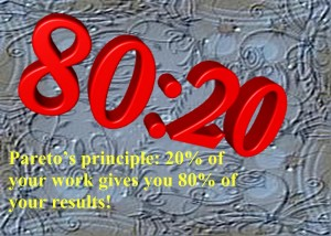 Pareto principle 80:20 rule